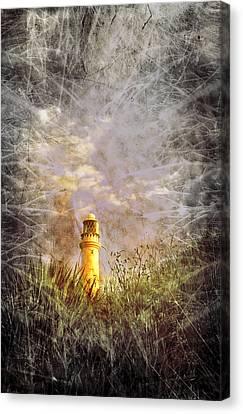 Grunge Light House Canvas Print by Svetlana Sewell
