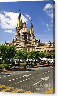 Guadalajara Cathedral Canvas Print by Elena Elisseeva