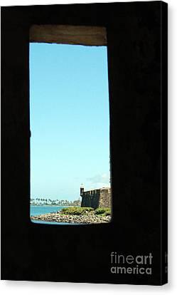 Guard Tower View Castillo San Felipe Del Morro San Juan Puerto Rico Canvas Print by Shawn O'Brien