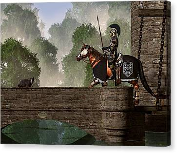 Guards Of The Forgotten Gate Canvas Print by Daniel Eskridge