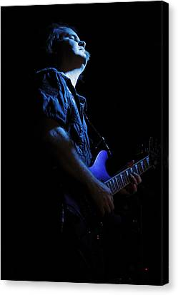 Guitarist In Blue Canvas Print by Rick Berk