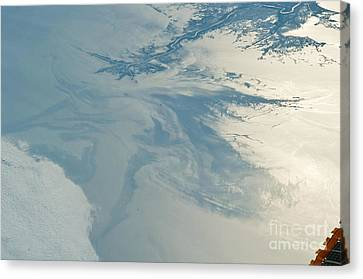 Gulf Of Mexico Oil Spill From Space Canvas Print by NASA/Science Source