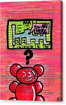 Gummy Bears Can't Read Canvas Print by Jera Sky