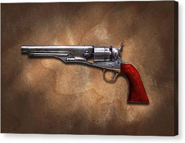 Gun - Model 1860 Colt Army Revolver Canvas Print by Mike Savad