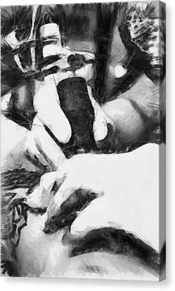 Guns And Ink - Sketch Canvas Print by Nicholas Evans