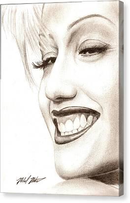 Gwen Stefani Canvas Print by Michael Mestas