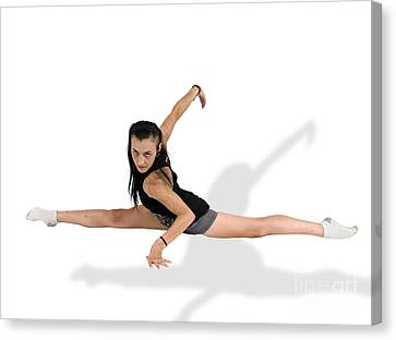 Gymnast Does The Splits  Canvas Print by Ilan Rosen