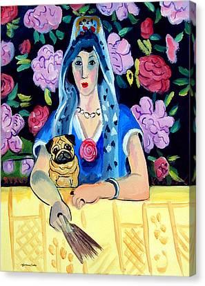 Gypsy Pug Canvas Print by Lyn Cook
