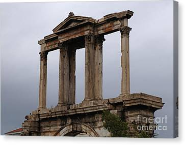 Hadrians Arch Athens Canvas Print by Bob Christopher