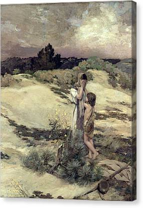 Hagar And Ishmael Canvas Print by Jean-Charles Cazin