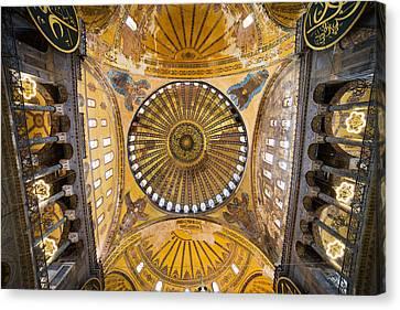Hagia Sophia Ceiling Canvas Print by Artur Bogacki