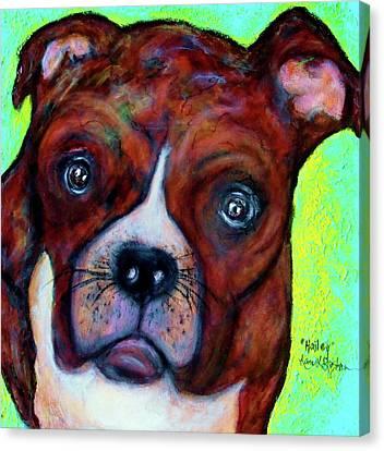 Hailey The Boxer Canvas Print by Laura  Grisham