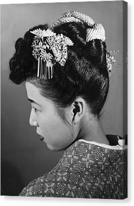 Hair Ornament Canvas Print by Central Press