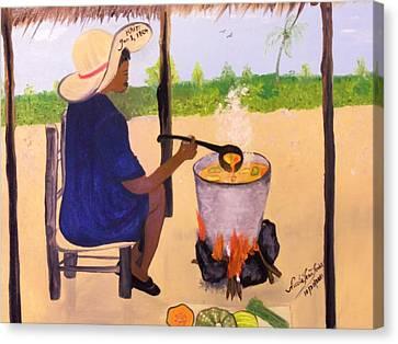 Haitian Pumpkin Soup Canvas Print by Nicole Jean-Louis
