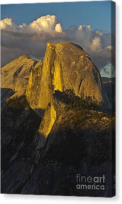 Half Dome At Sunset Canvas Print by Rodney Cammauf