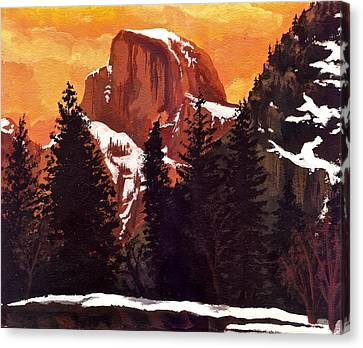 Half Dome Sunset Canvas Print by Sara Coolidge