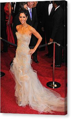 Halle Berry Wearing Marchesa Dress Canvas Print by Everett
