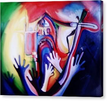 Hallelujah At Cathedral Canvas Print by Oyoroko Ken ochuko