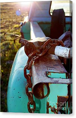 Hammer Chain And Truck Canvas Print by Wesley Hahn