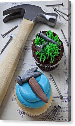 Hammer Cupcake Canvas Print by Garry Gay