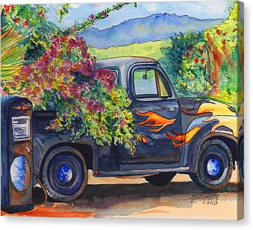 Hanapepe Truck Canvas Print by Marionette Taboniar