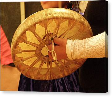 Hand Drum Canvas Print by FeVa  Fotos