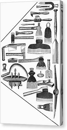 Hand Tools, 1876 Canvas Print by Granger