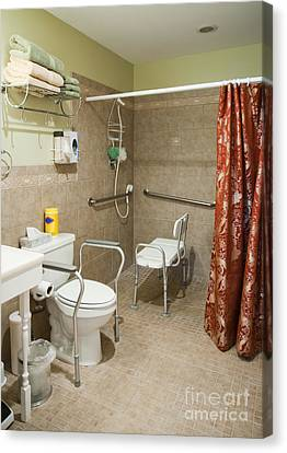 Handicapped-accessible Bathroom Canvas Print by Andersen Ross