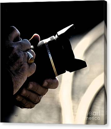 Hands At 270mm Canvas Print by Steven  Digman