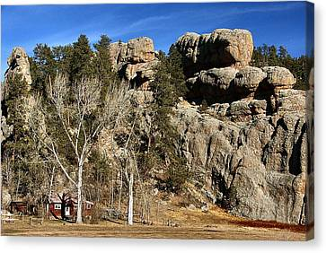 Hang A Left At The Rock Canvas Print by Lynne and Don Wright