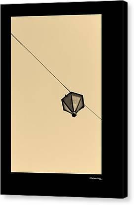 Hanging Light Canvas Print by Xoanxo Cespon