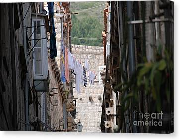 Hanging Out In Dubrovnik Canvas Print by Barry Luroe