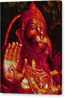 Hanuman The Monkey King Canvas Print by Naresh Ladhu