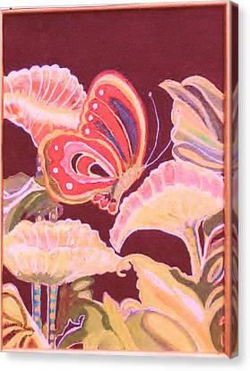 Happy Butterfly Canvas Print by Anne-Elizabeth Whiteway