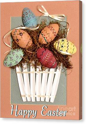 Happy Easter Canvas Print by Marilyn Smith