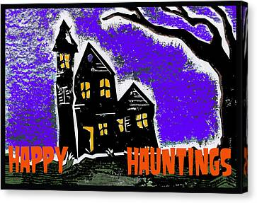 Happy Hauntings Canvas Print by Jame Hayes