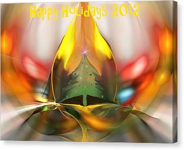 Happy Holidays 2012 Canvas Print by David Lane