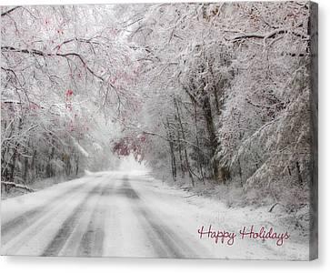 Happy Holidays - Clarks Valley Canvas Print by Lori Deiter