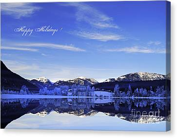 Happy Holidays Canvas Print by Sabine Jacobs