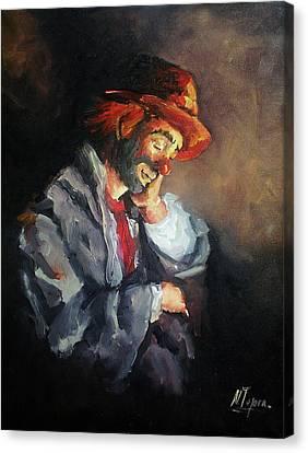 Happy While He Dreams Canvas Print by Natalia Tejera