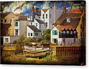 Harbor Houses Canvas Print by Chris Lord