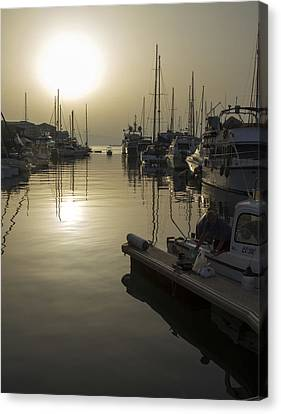 Harbor Sunset Canvas Print by Stephen McCluskey