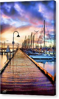 Harbor Town Canvas Print by Tom Schmidt