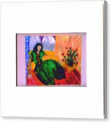 Harem Girl Canvas Print by Duygu Kivanc