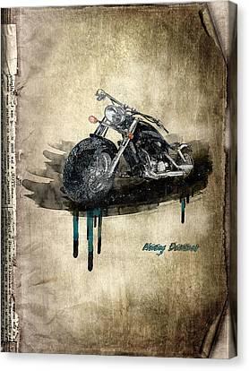 Harley Davidson Canvas Print by Svetlana Sewell