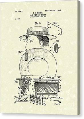 Hat Mirror 1903 Patent Art Canvas Print by Prior Art Design