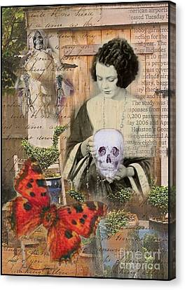 Haunted Garden Canvas Print by Ruby Cross