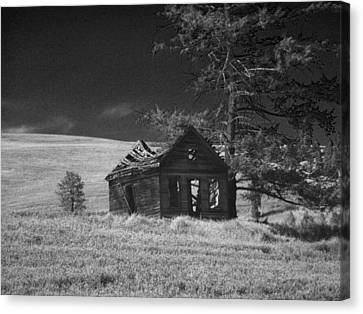 Haunted House Canvas Print by Anne Mott
