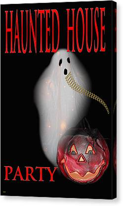 Haunted House Party Canvas Print by Debra     Vatalaro