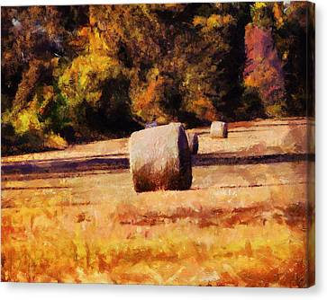 Hay Bales Canvas Print by Jai Johnson